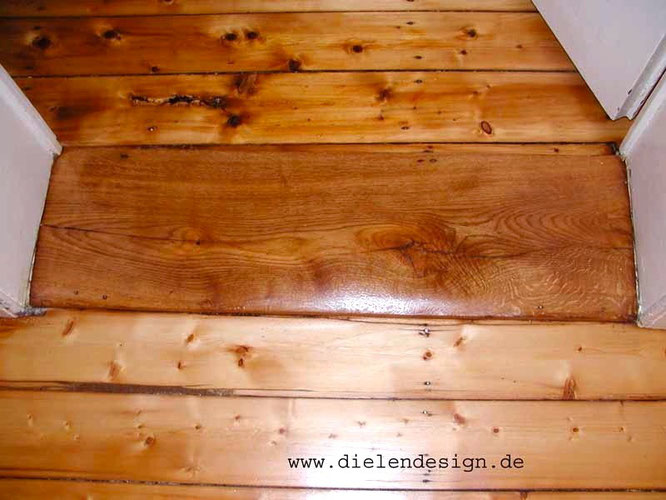 Floorboards with hard oil and wax
