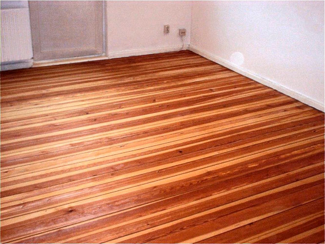 Floorboards with hard oil