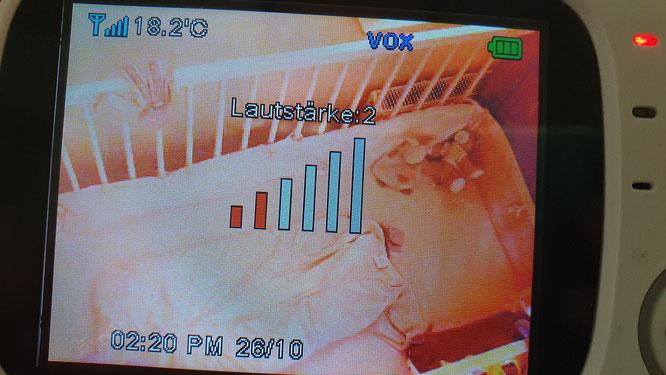 GHB Babyphone 3,2 Zoll Smart Baby Monitor - Lautstärke