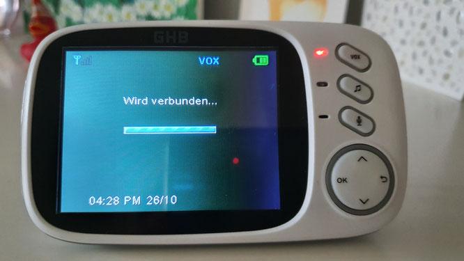 GHB Babyphone 3,2 Zoll Smart Baby Monitor - Reichweite
