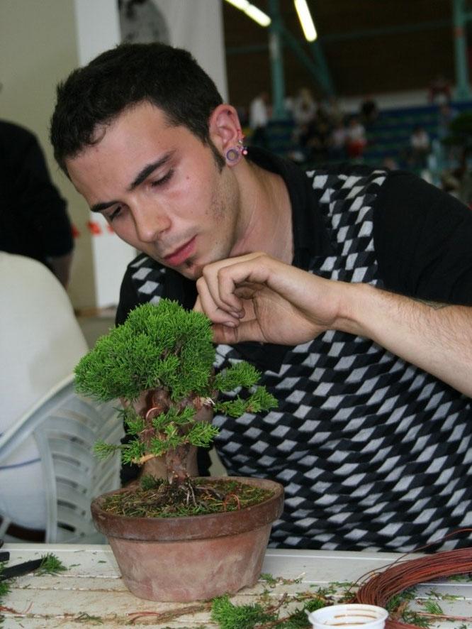 Luca Gianesin al lavoro