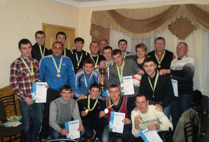 """""""Энергия"""" (с.Изумрудный) Чемпионы Джанкойского района 2011г. и 2012г."""