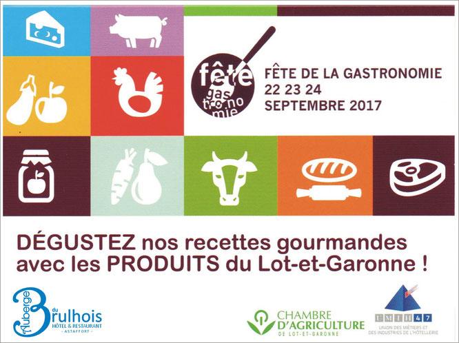 Fête de la gastromonie, 2017, Restaurant, Astaffort
