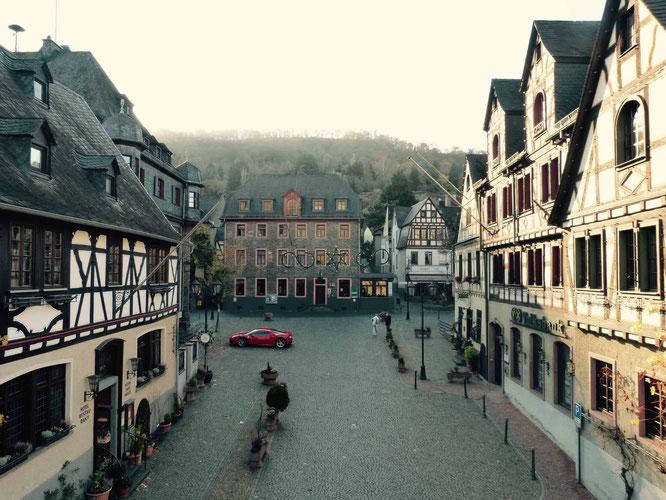 Die Fachwerkhäuser von Oberwesel sind wunderschön.
