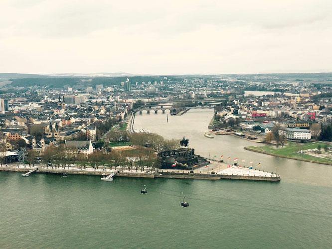 Koblenz - Das Deutsche Eck im Winter