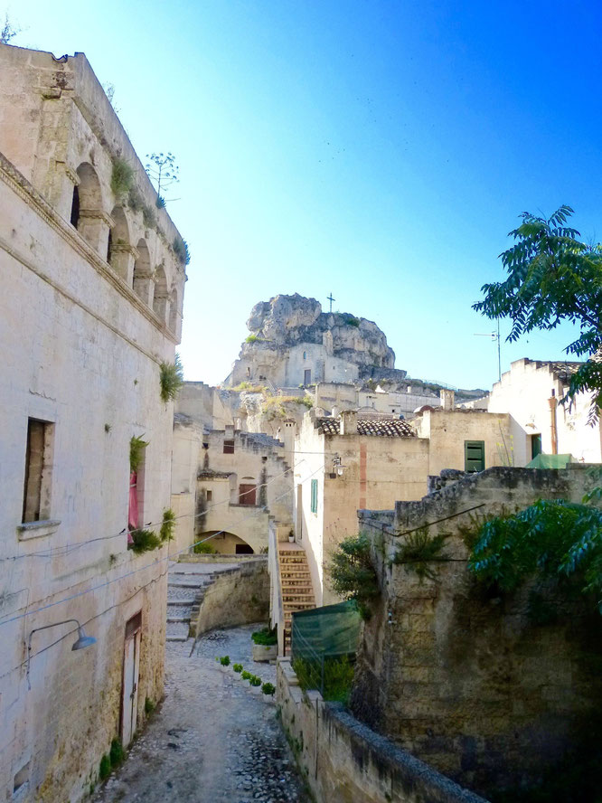 Matera - Kulturhauptstadt 2019 - Blick aus dem Caveoso Hotel