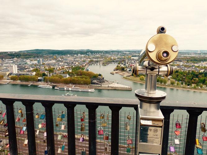 Die schönsten Sehenswürdigkeiten in Koblenz - Der Blick von der Festung Ehrenbreitstein