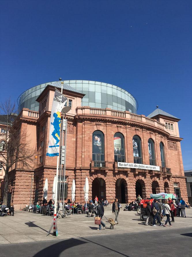 Das Stadttheater von Mainz.