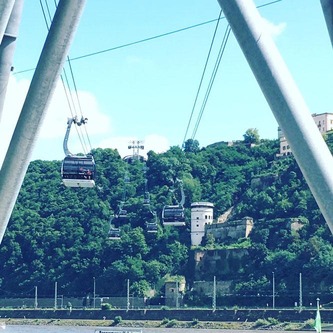Die Seilbahn in Koblenz ist ein tolles Ausflugs-Ziel
