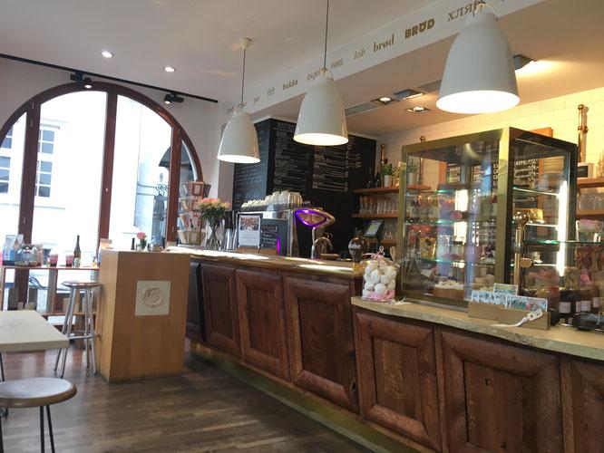 Der kulinarische Mittelpunkt des Cafés.