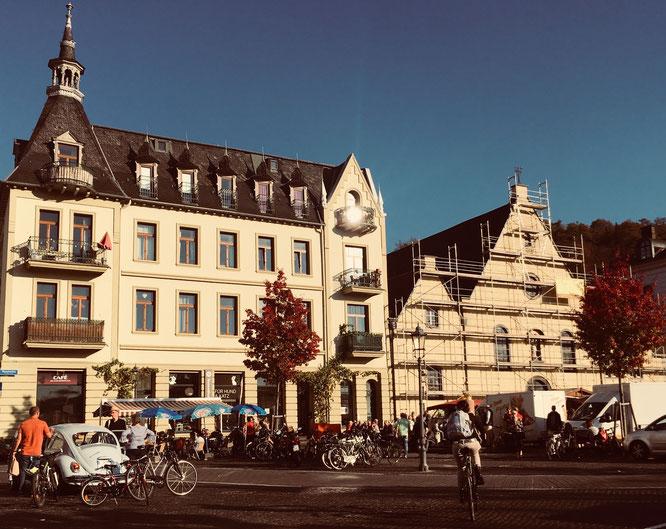 Auf dem Kapuzinerplatz ist mittwochs Markttag.