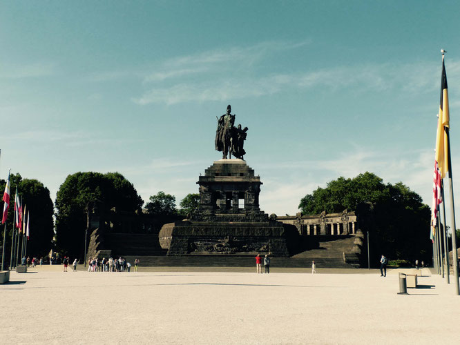 Das Kaiser-Wilhelm-Denkmal am Deutschen Eck in Koblenz