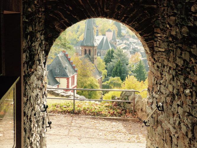 Auf der Saarburg gibt es eine Burgschänke und tolle Ausblicke