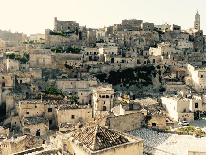 Wie aus dem Fels gehauen - die Sassi von Matera