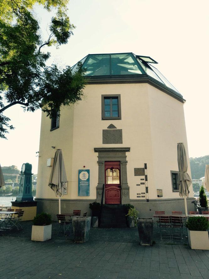 Das Pegelhäuschen in Koblenz