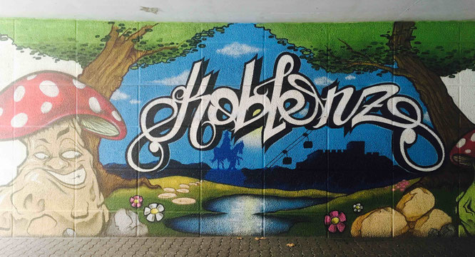 Koblenz als Graffiti - Streetart-Tour durch Koblenz