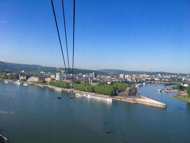 Sehenswürdigkeit in Koblenz - Die Seilbahn Koblenz