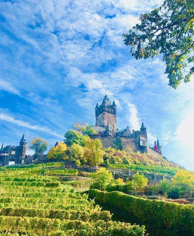 Auch ohne Bildbearbeitung sieht die Reichsburg in Cochem echt märchenhaft aus.