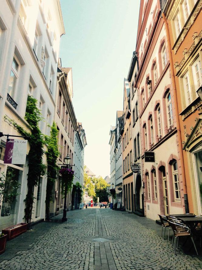 Die wunderhübsche Mehlgasse in der Koblenzer Altstadt