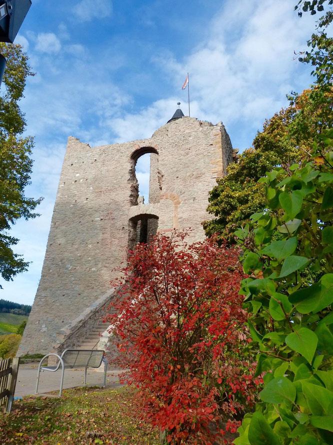 Wem der Ausblick vom Belvedere nicht reicht, kann den hohen Turm der Festung erklimmen.