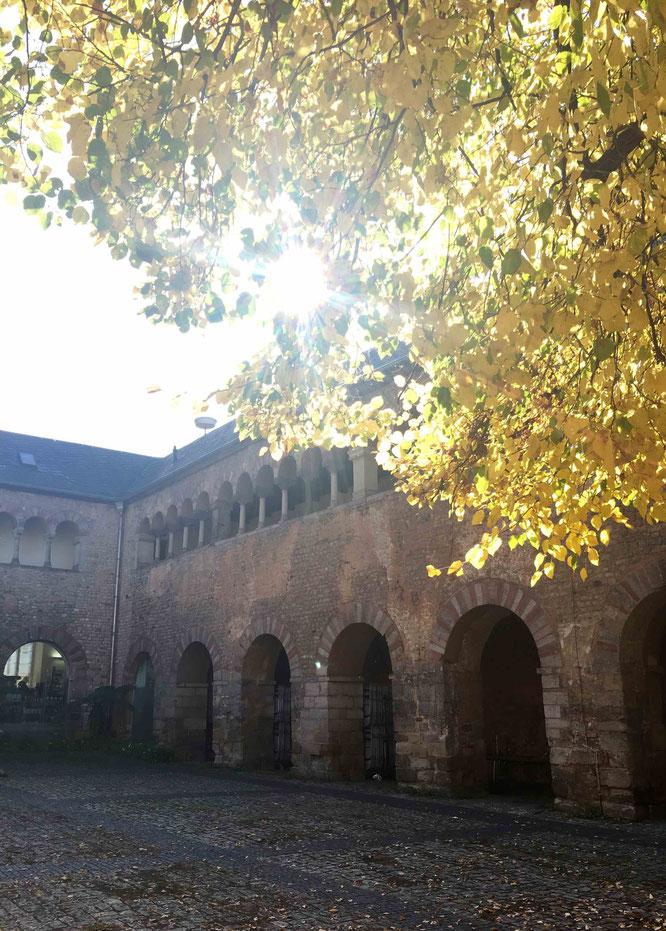 Bei einem Ausflug nach Trier habe ich römische Stille im Brunnenhof gefunden.