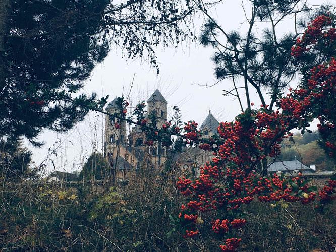 Nach einem Spaziergang rund um den Laacher See solltet Ihr der Abtei Maria Laach einen Besuch abstatten.