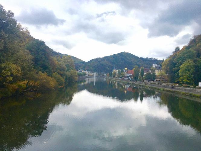 Malerischer Blick von der Kaiserbrücke auf Bad Ems!