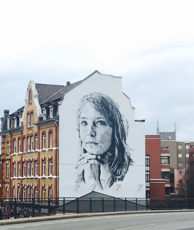XXL-Portrait von Hendrik Beikirch in Koblenz - Streetart-Tour durch Koblenz
