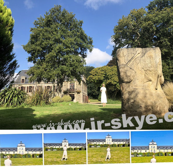 Château de Tronjoly, Gourin (Part II) & Château de Kergonano, Lieu-dit Kergonano, 56870 Baden, Département Morbihan (47° 37′ 10″ N, 2° 55′ 8″ W)...