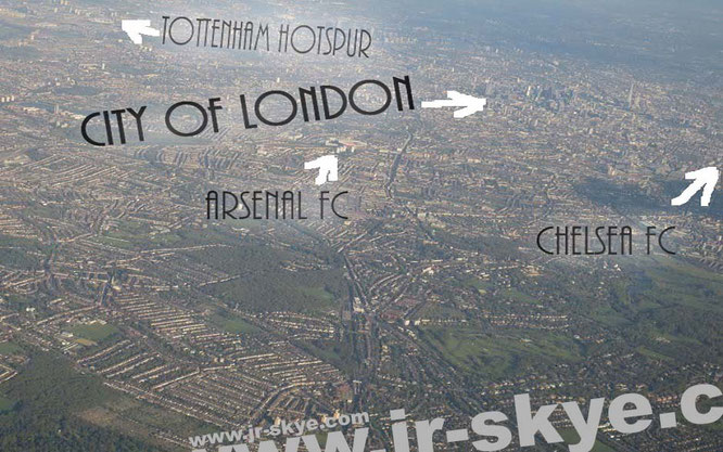"""""""Approaching London Heathrow: from Wall Street, New York City to the City of London, GB."""" Watching Tottenham, Arsenal & the Blues right from the sky(e)!"""