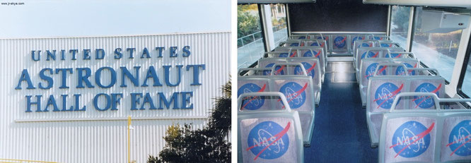 Astronaut Hall of Fame und im NASA-Bus, Cape Canaveral...