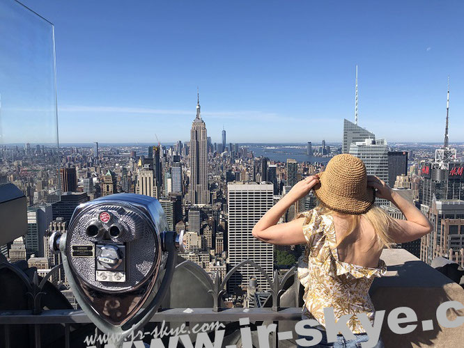 Mein Beobachtungspunkt (Blickrichtung Süd - inkl. Mona-Liza): 30 Rockefeller Plaza, New York, NY 10112...