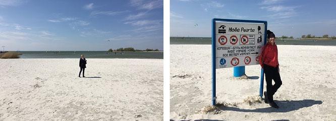 De Holle Poarte, das touristisch stark frequentierte Strandrevier bei Makkum...