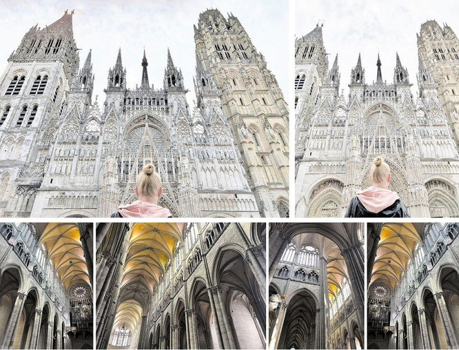 Die Schönste: Kathedrale von Rouen (49° 26′ 25″ N, 1° 5′ 41″ E)...
