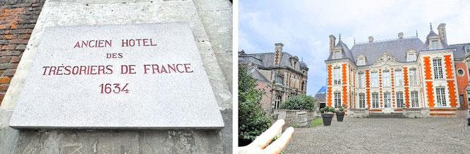 Großartige Hotel-Architektur (Louis-treize-Stil, 1610 bis 1643, Frühbarock/Spätmanierismus/französischer Klassizismus) - Amiens, Department Somme, Hauts-de-France (49° 53′ 34″ N, 2° 18′ 09″ E)...