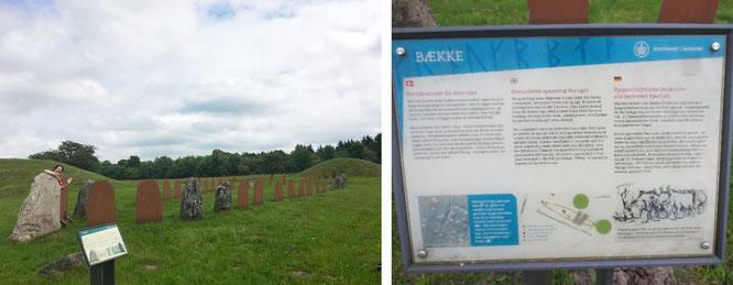 Baekke-Monument, Klebaek Höje: 2 Grabhügel (1.500 - 1.200 v.Chr.) und eine Schiffssetzung (1.000 n. Chr.). Auch die abgeschiedene Lage katapultiert diesen Ort in meine Top 10 der Dänemark-Highlights...