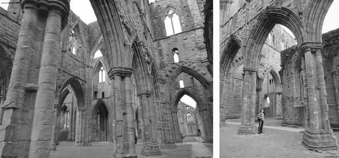 Diese beiden Fotografien Tintern Abbeys habe ich den Mitarbeitern meines Unternehmens - nach Beendigung meiner Reise - zeitnah (innerhalb von 5 Tagen) per Hochglanz-Ausdrucke in Posterformat verpasst...