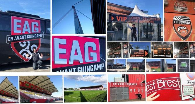 I'm a guest to EA Guingamp (Département Côtes d'Armor, Brittany, France - 48° 33′ 57.81″ N, 3° 9′ 52.17″ W), FC Lorient, FC Rouen & Stade Brest...