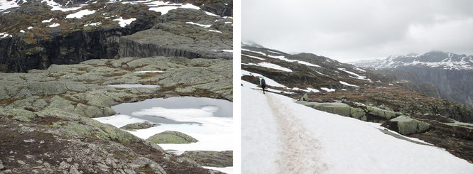 Beinahe nicht enden wollender Aufstieg: Achtung! Felsspalten säumen den zuweilen nur zu erahnenden Weg...