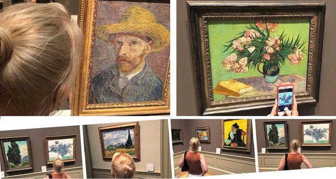 Mona-Liza trifft Van Gogh: obwohl Anhänger Altniederländischer Malerei und deren Meister wie Vermeer, reise ich u.a. auch nach New York City, um Van Goghs Originale kritisch in Augenschein zu nehmen...