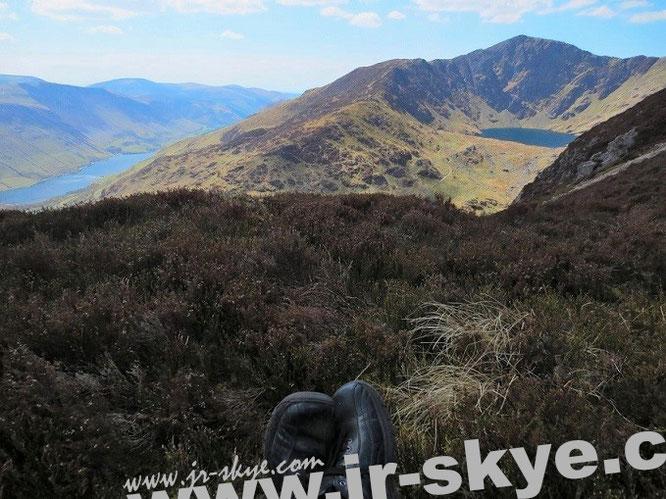 Fotos von meinen Füssen habe ich auf meinen Reisen unzählige angefertigt. Aber viel zu wenige von unserem Aufstieg auf Cader Idris: Chair of Idris´, Tall-y-Llyn/Llyn Cau, Gwynedd...