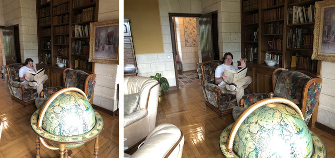 Bibliothek Chateau d´Hattonchatel, 50 km südöstlich von Verdun (Frankreich)...