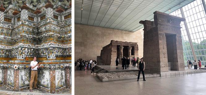 Wat Arun, Bangkok & Metropolitan Museum of Art, New York...