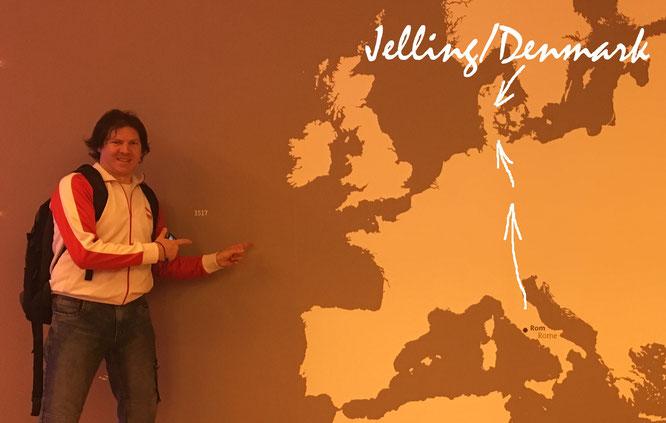 ...von Rom (Startpunkt) über Frankfurt nach Jelling (Ziel: Trolltunga, Norwegen!)