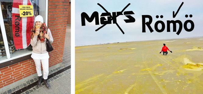 Nein, rechts befinde ich mich nicht auf dem Mars - sondern auf der dänischen Insel Römö!