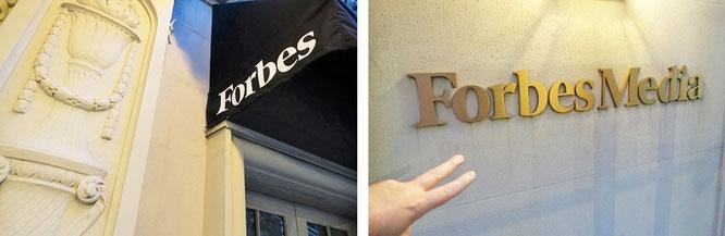 """Zu Besuch bei Forbes, Manhattan/New York City. Danke @Forbes für die Aufnahme in die Rubrik """"Digitale Leader DACH @Twitter."""""""