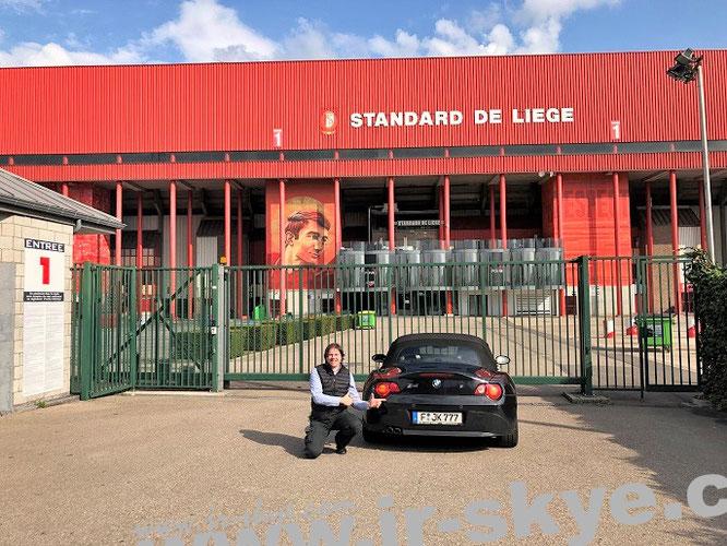 Maurice-Dufrasne-Stadium (Stade de Sclessin), Standard de Liege (Standard Lüttich), Belgium, (50° 36′ 35.67″ N, 5° 32′ 36.04″ E)...