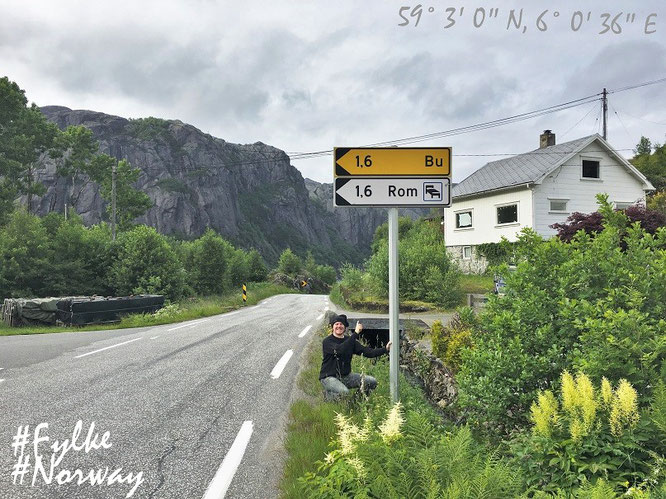 """Only 1,6 km to go: Bu & Rom! #Norway."""