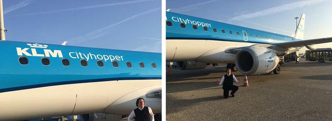 Von Frankfurt nach Amsterdam - und von Amsterdam nach Eindhoven, Hoogeveen, Rotterdam und Texel...mit KLM!