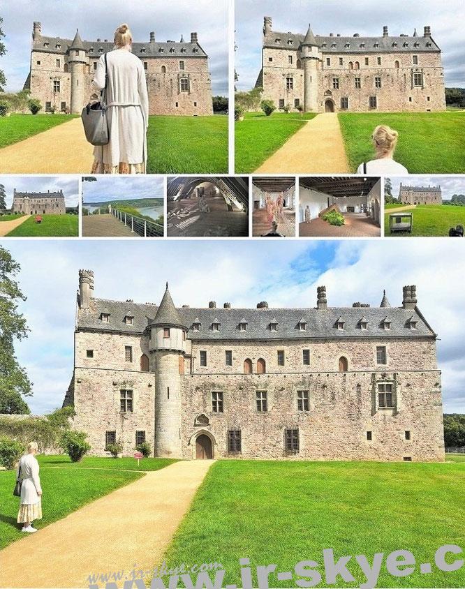 Château de La Roche-Jagu, Ploëzal, Département Côtes-d'Armor, Frankreich (48° 43′ 2″ N, 3° 12′ 6″ W)...